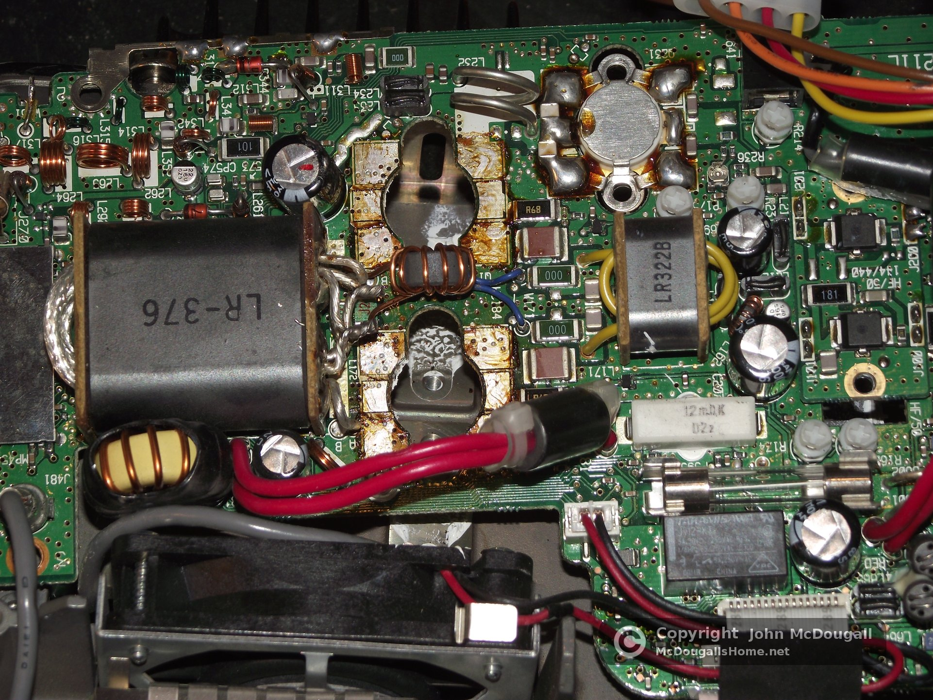 Repairing My Icom Ic 706mkiig Final Amp Board Picture Of Old Circuit With Finals Removed And Ready For Modifications